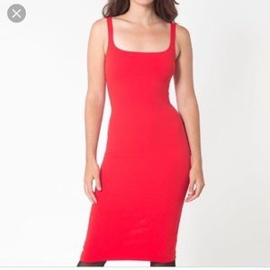 American Apperal red bodycon dress
